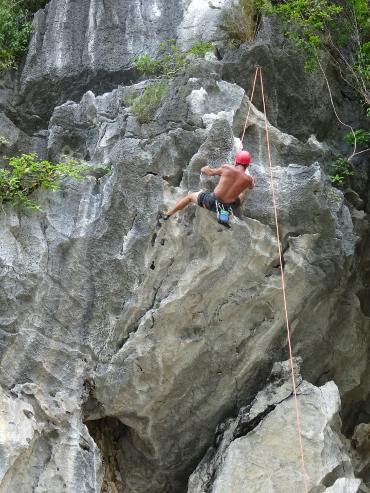 vietnam, rock climbing, bay, explore, travel