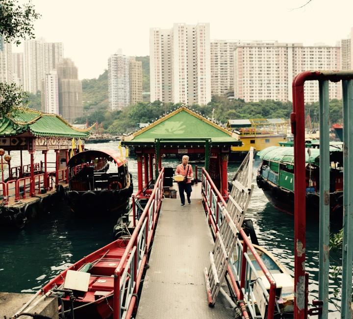 hong kong, harbor, ships