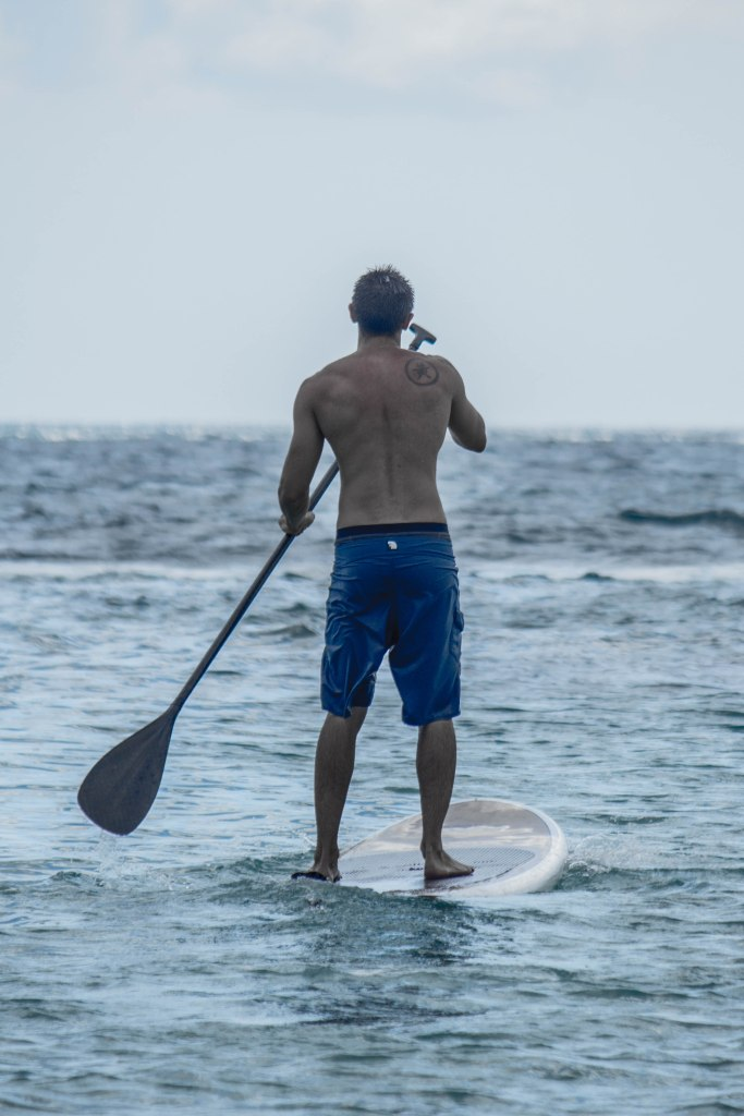 My brother Evan stand up paddle boarding