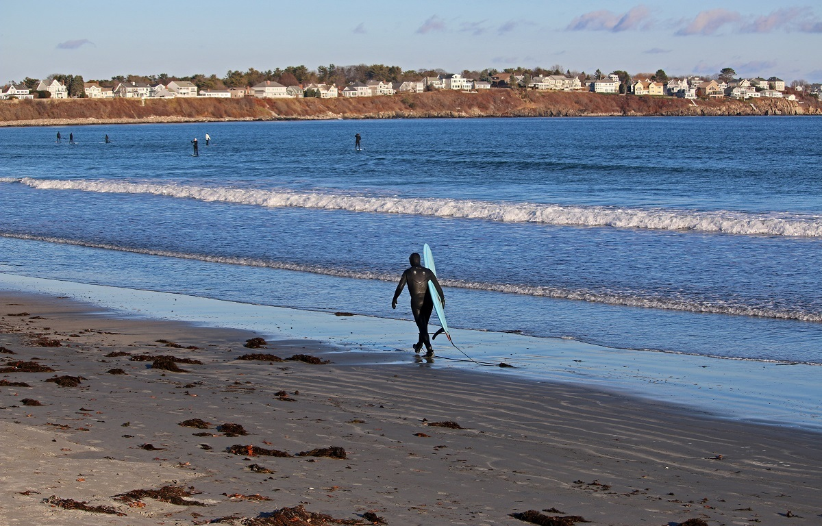 maine, surfing, paddleboard, york