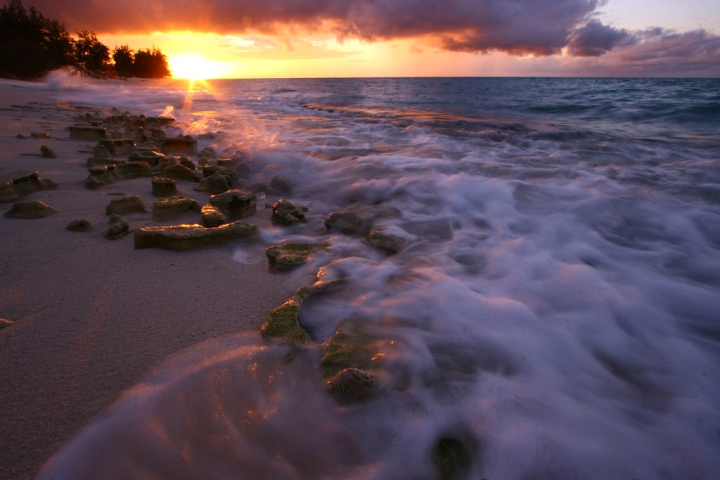 denis island, storm, nature