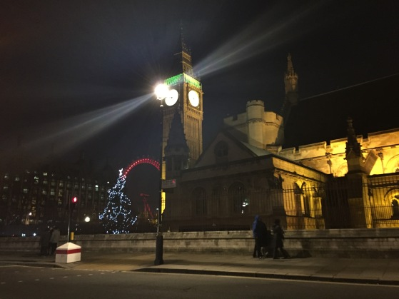 Nikkita Mehta: My parents and I were heading to central London for dinner and decided to take the longer route. With my iPhone out the window of the car, I was able to grab this shot of London at Christmas
