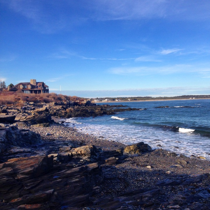 maine, coast, ocean, christmas