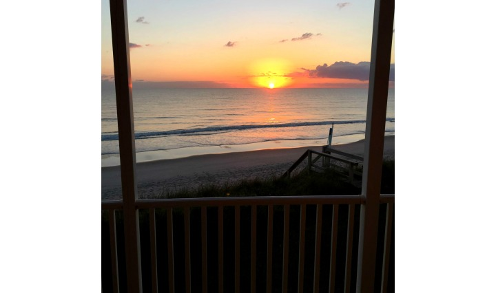 sunset, melbourne, florida, beach