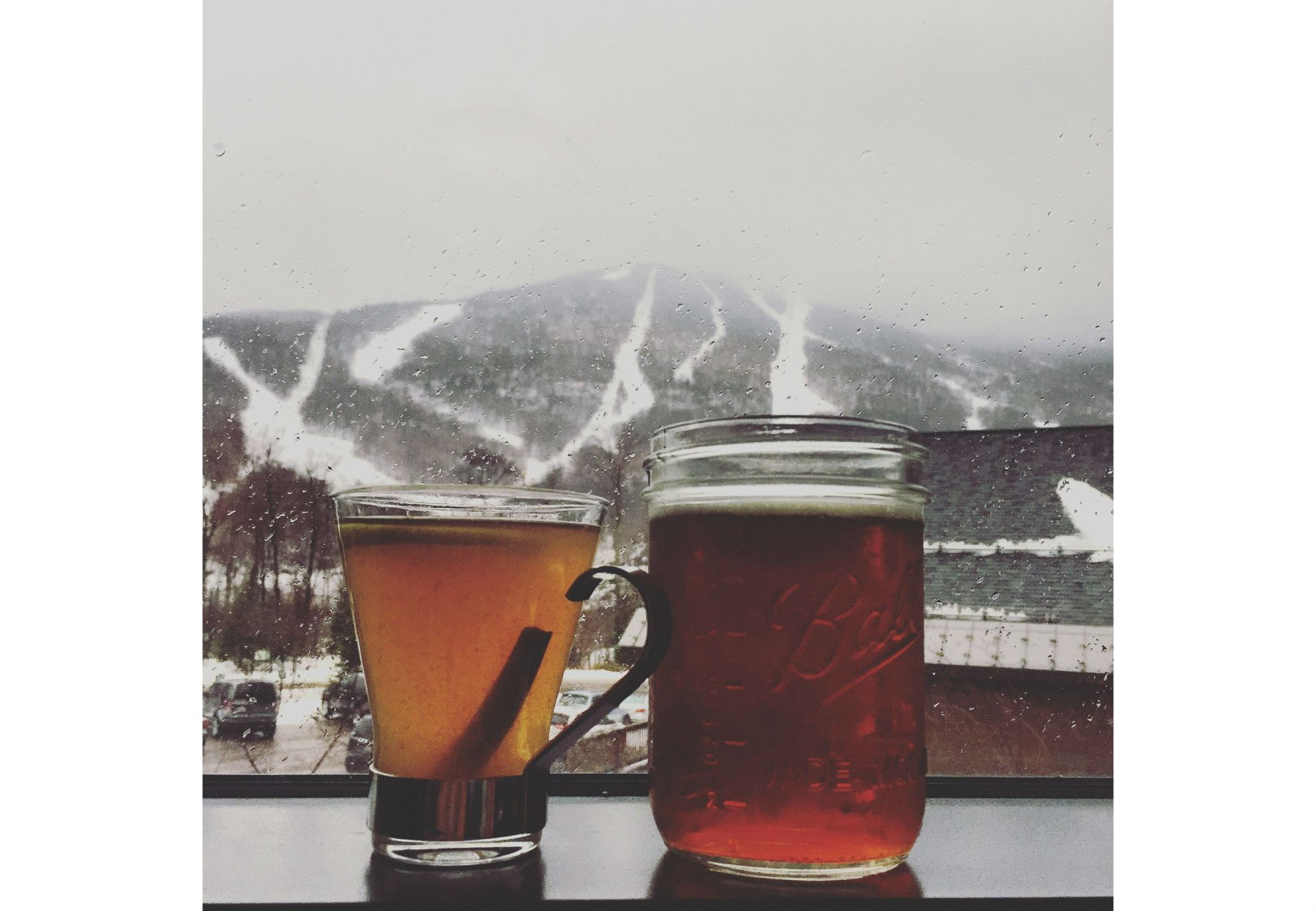 skiing, drinks, winter