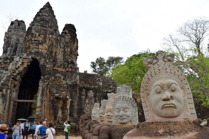 temple, cambodia, nature