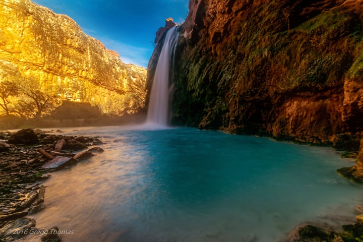 nature, arizona, havasu, waterfall, travel
