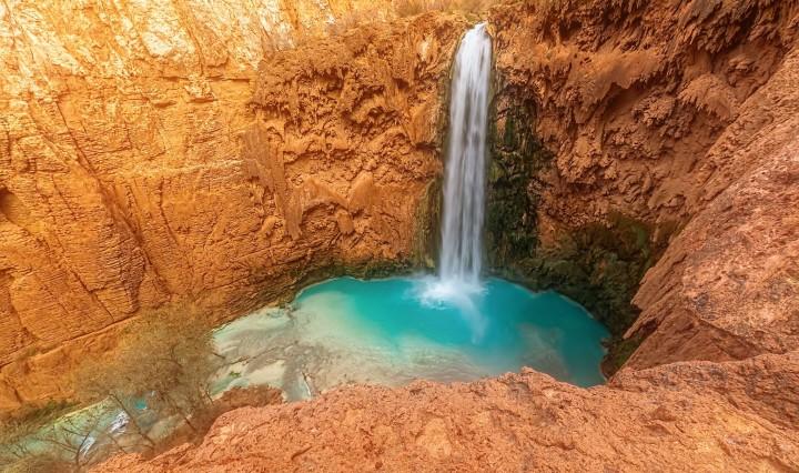 nature, arizona, havasu, waterfall, travel