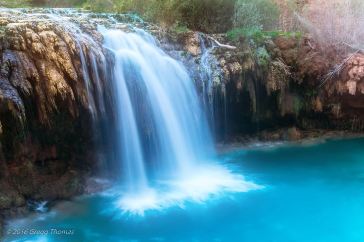 havasu falls, arizona, nature, landscape, travel, waterfall