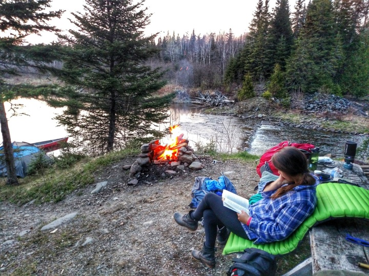 reading, camping, nature, maine, writing