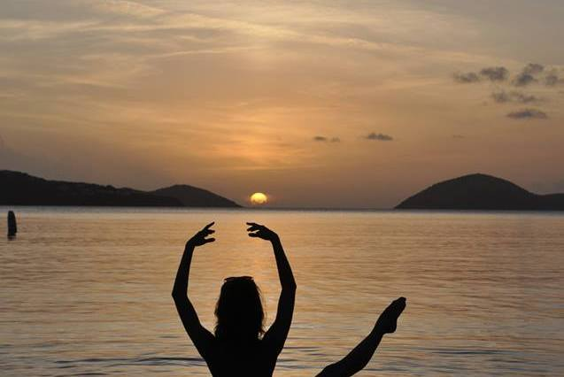 puerto rico, yoga, nature, sunset