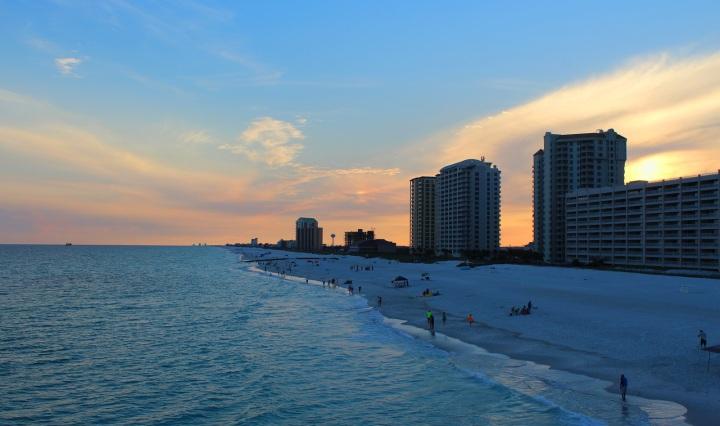nature, sunet, florida, beach