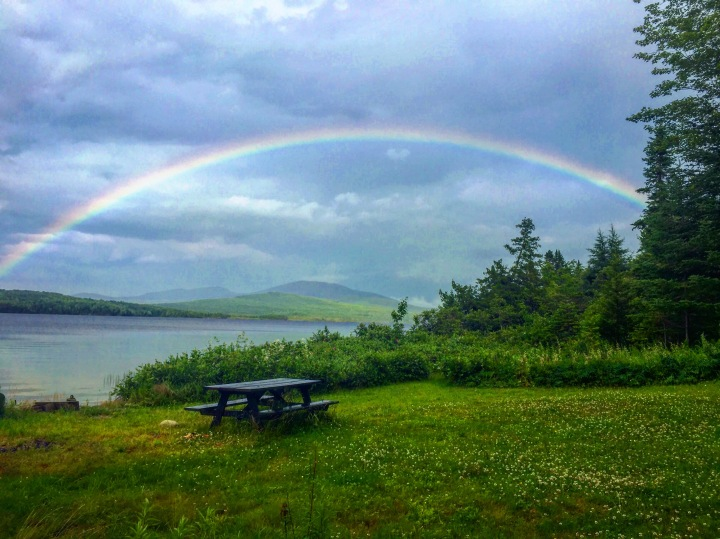maine, rainbow, nature