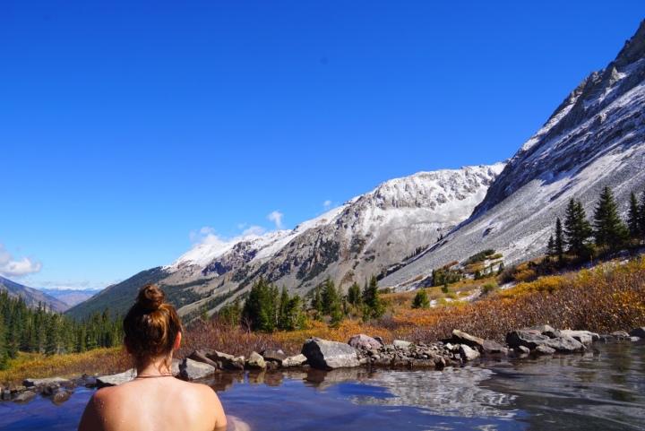hot springs, nature, landscape
