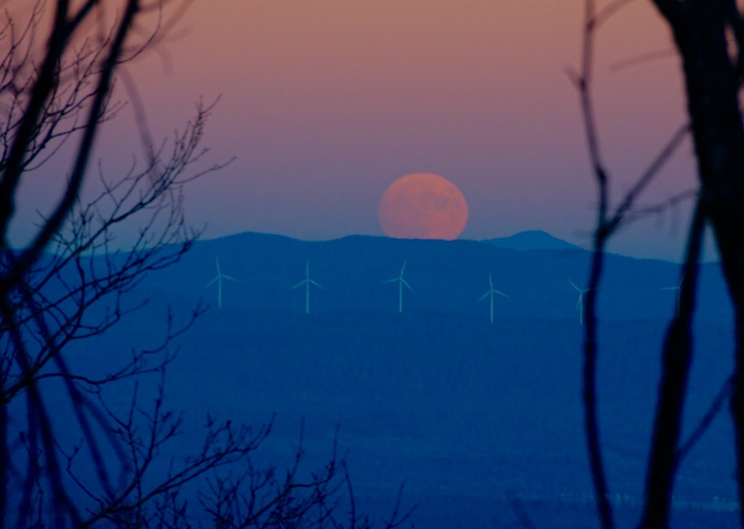 super moon, nature, travel, maine